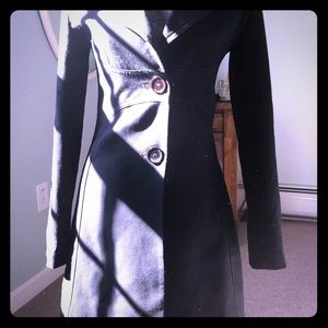 Poetry long black fitted blazer size small
